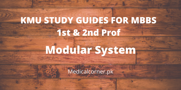 KMU Study Guides for 1st and 2nd Prof MBBS Modular System