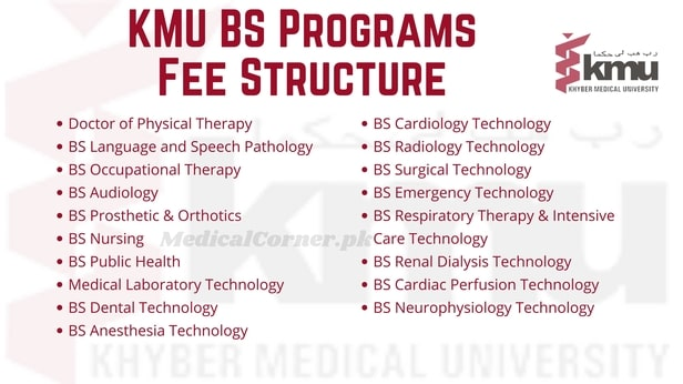KMU BS Programs Fee Structure