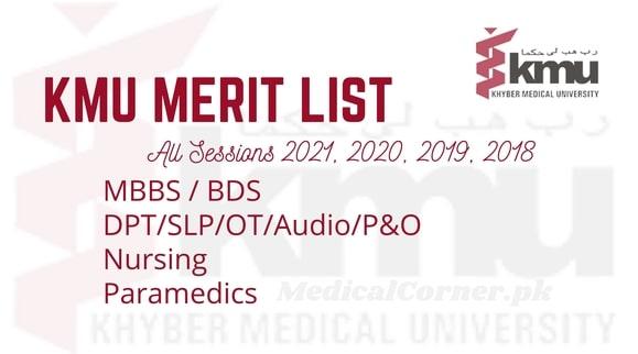 KMU Merit List