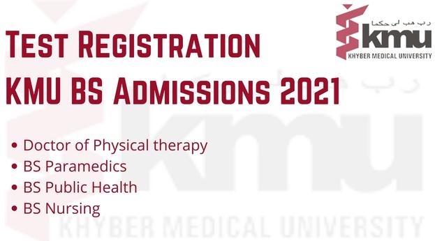 Test Registration For KMU BS Admissions 2021