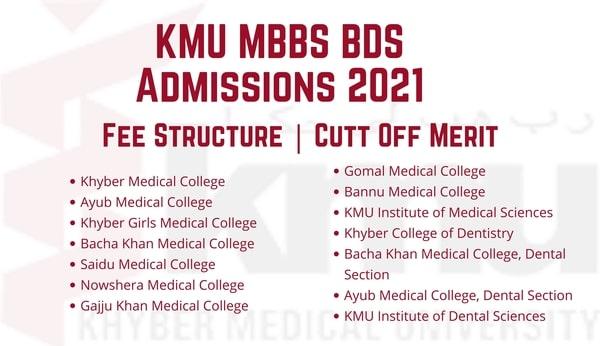 KMU MBBS BDS Admissions