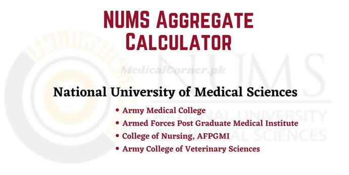 NUMS Aggregate Calculator